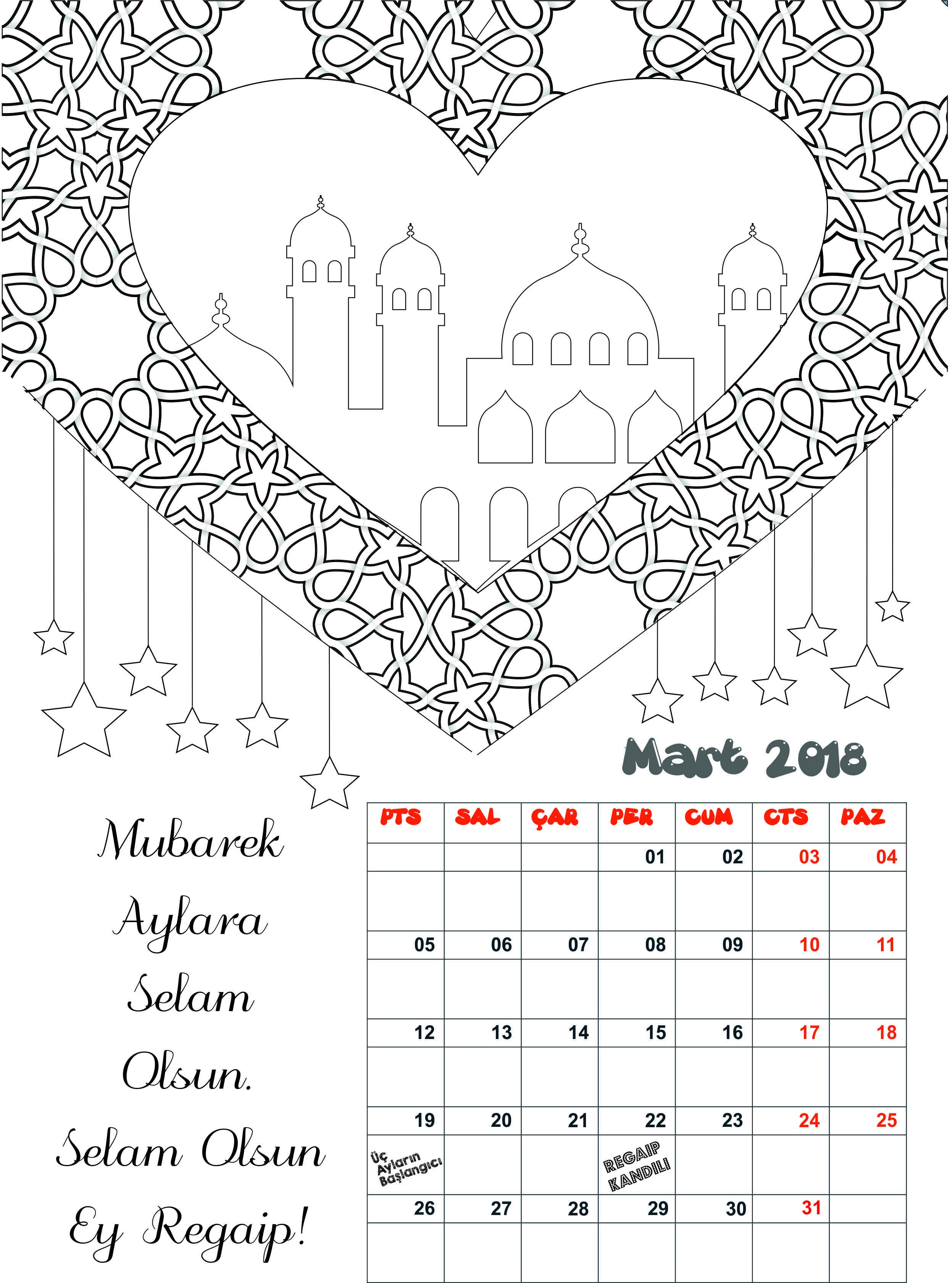 Mart Takvimi Cocuk Ve Islam