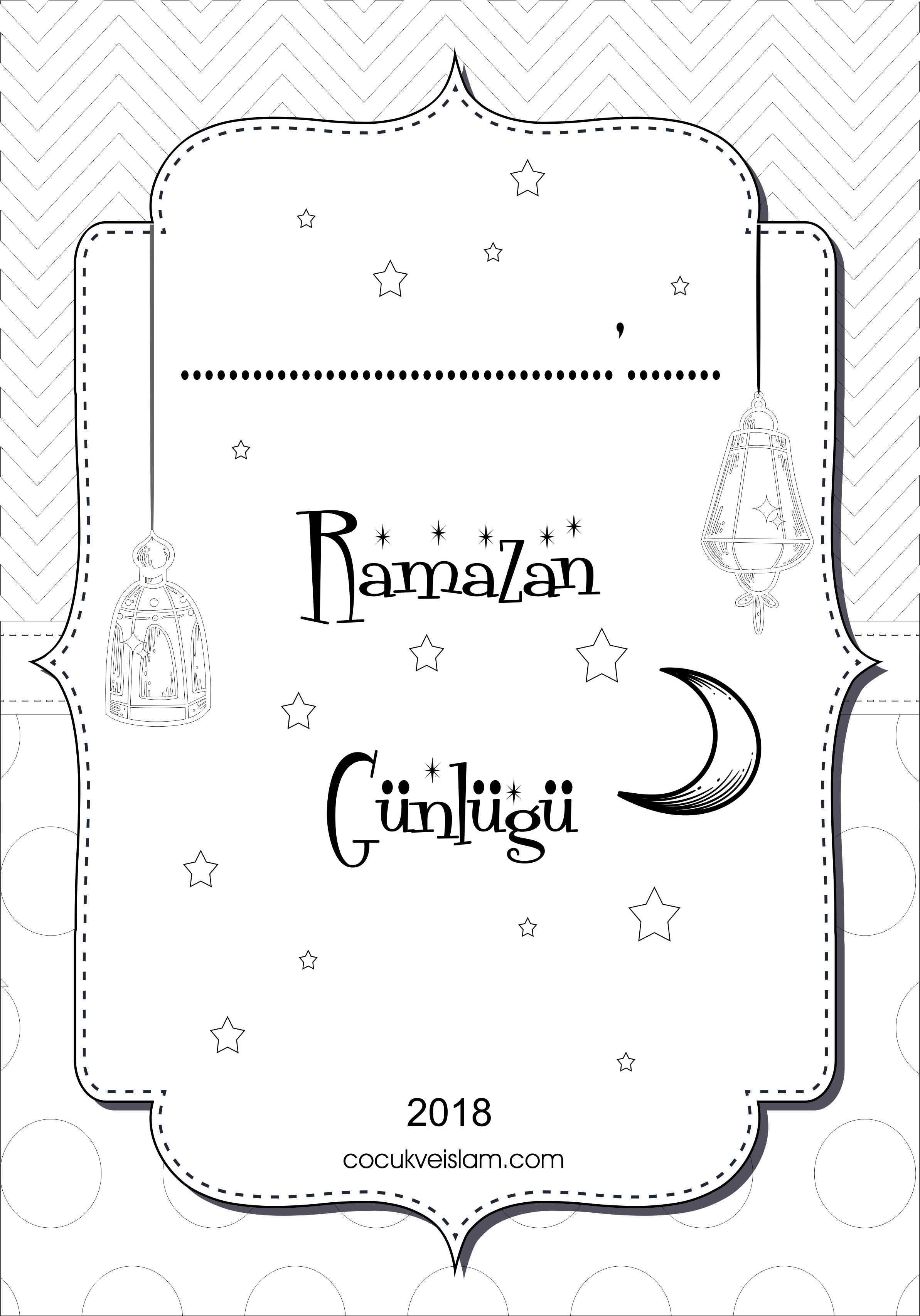 Ramazan Gunlugu Boyama Kapak Cocuk Ve Islam