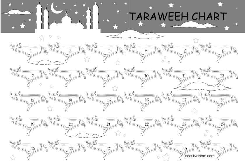 taraweeh chart